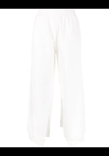MM6 MAISON MARGIELA loose trousers split legs white