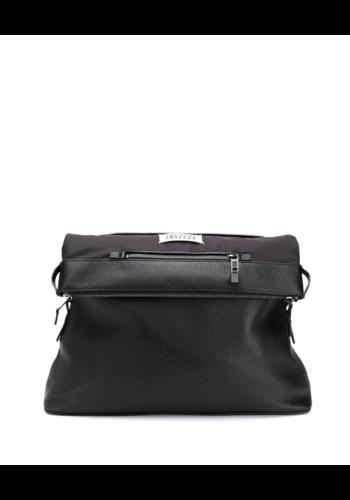 MAISON MARGIELA 5ac xl deer leather bag black