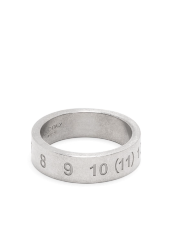 MAISON MARGIELA numbers ring semi-polished silver