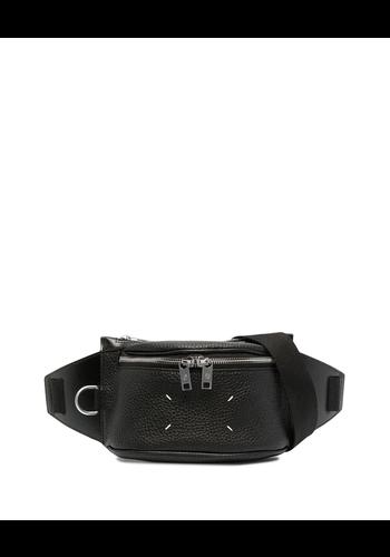 MAISON MARGIELA belt bag grain leather black
