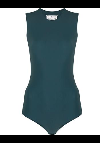 MAISON MARGIELA sleeveless technical body dark green