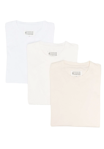MAISON MARGIELA cotton jersey 3-pack white/cream