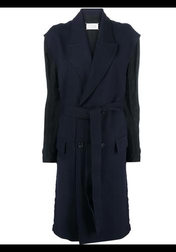 MAISON MARGIELA wool coat navy