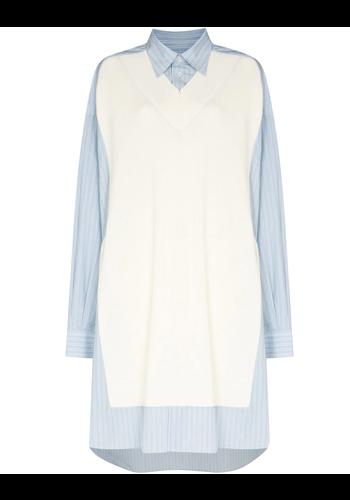 MAISON MARGIELA sweatervest dress blue/white