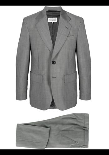 MAISON MARGIELA wool suit popeline grey