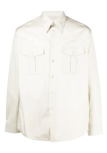 LEMAIRE military shirt light sage