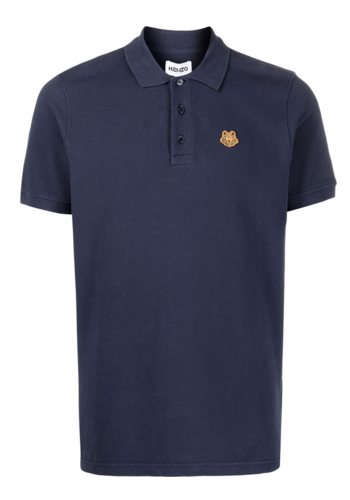 KENZO tiger crest k fit polo navy