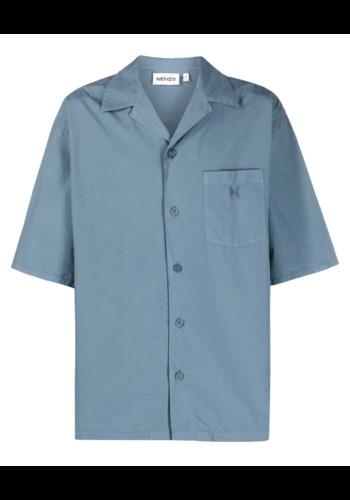 KENZO casual short sleeves shirt grey blue