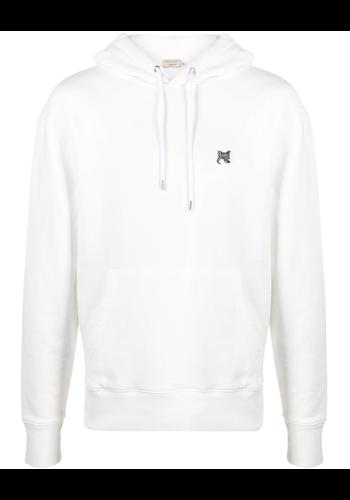 MAISON KITSUNE grey fox hoodie ecru