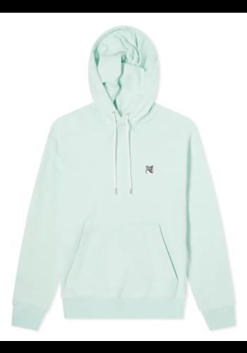 MAISON KITSUNE grey fox hoodie mint