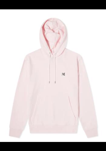MAISON KITSUNE grey fox hoodie pink