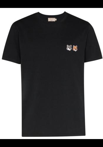 MAISON KITSUNE t-shirt double fox anthracite