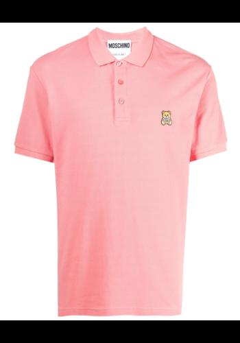 MOSCHINO pink bear polo