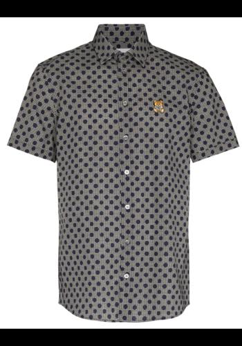 MOSCHINO printed bear shirt navy