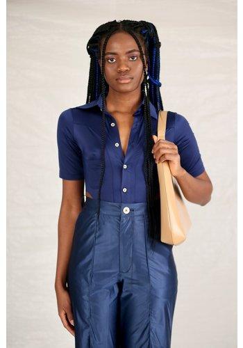 NINAMOUNAH bipeds body blouse shiny blue