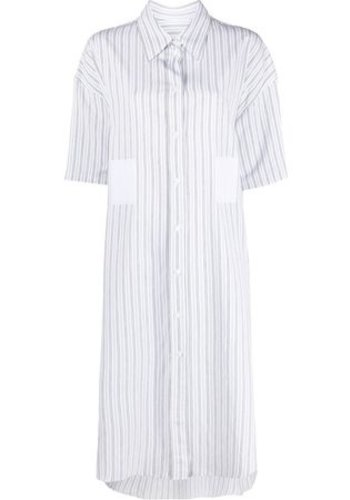 MM6 MAISON MARGIELA shirt dress long white/blue stripes