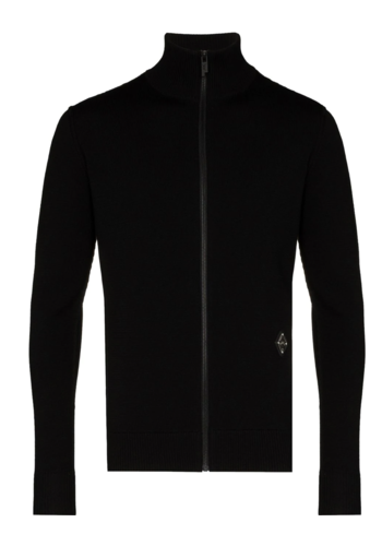 A-COLD-WALL* slim fit knit zip-up black