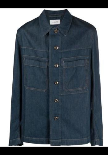 LEMAIRE denim workwear overshirt jean blue
