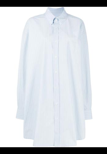 MAISON MARGIELA oversized shirt stripes blue/white