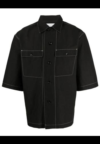 LEMAIRE short sleeve pyjama shirt black