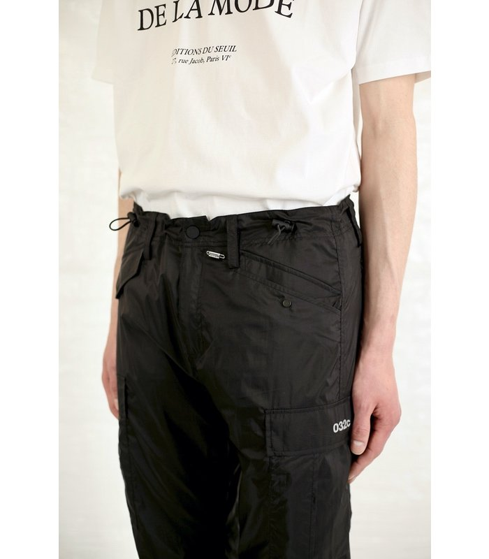 TRANSLUCENT NYLON PANTS BLACK