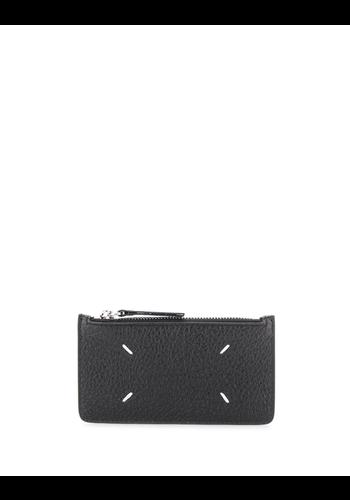 MAISON MARGIELA zip credit card wallet black