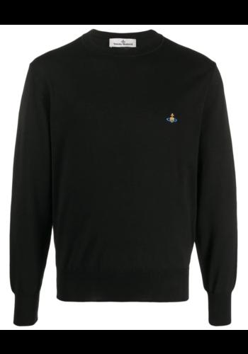 VIVIENNE WESTWOOD classic round neck knitwear black