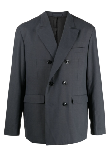 STUSSY double breasted jacket grey