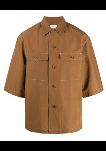 LEMAIRE short sleeve pyjama shirt tobacco
