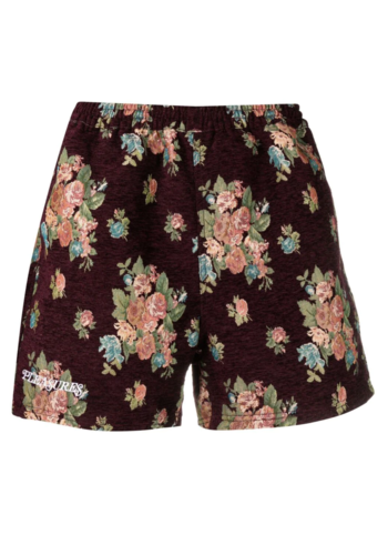 PLEASURES floral shorts maroon