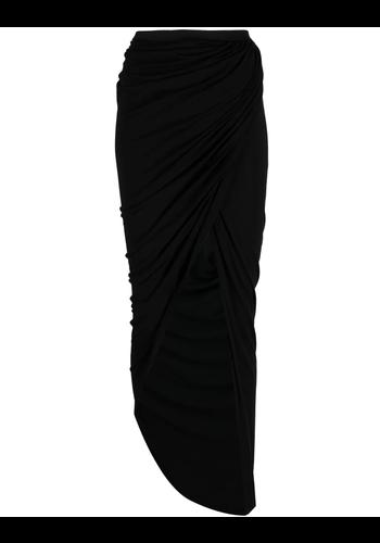 RICK OWENS LILIES lilies knit side split skirt black