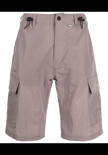 032C nylon cargo shorts grey/pink