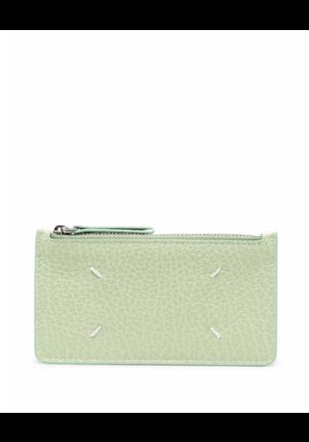 MAISON MARGIELA zip credit card wallet pistachio