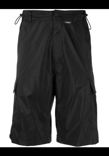 032C translucent nylon shorts black