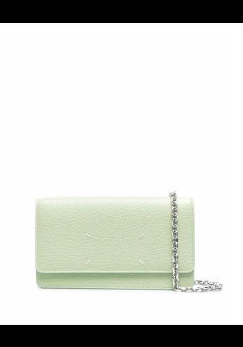 MAISON MARGIELA large chain wallet pistachio