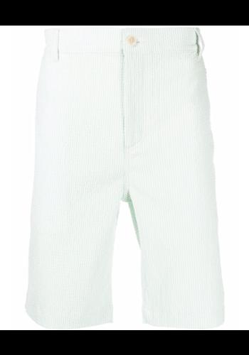 MAISON KITSUNE classic 4 pockets bermuda green stripes