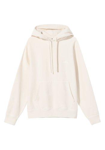 STUSSY stock logo hoodie oatmeal