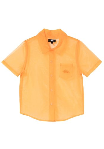STUSSY milo sheer shirt orange