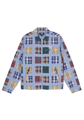 STUSSY madras patchwork zip jacket plaid