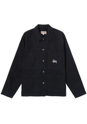 STUSSY canvas chore jacket black