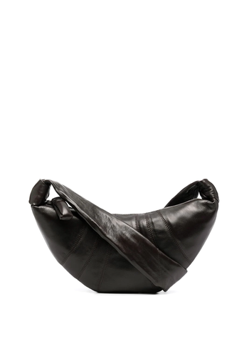 LEMAIRE small croissant bag dark chocolate