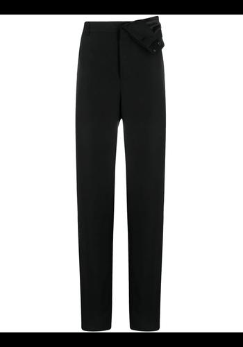 Y/PROJECT classic asymmetric waist trousers black