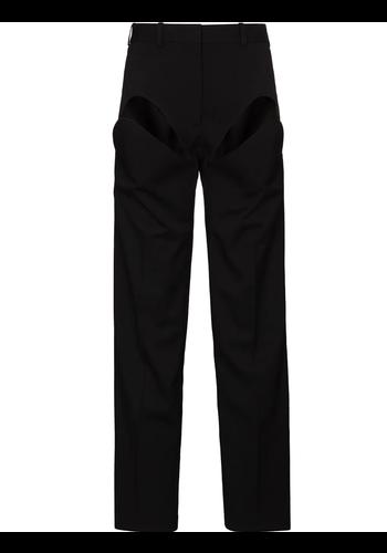 Y/PROJECT classic front cut pant black