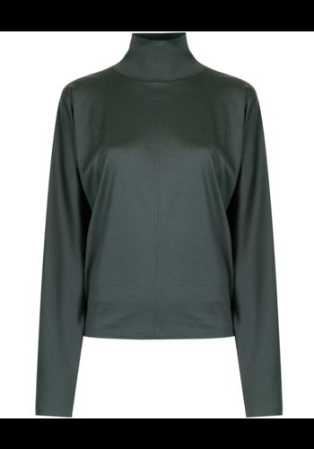 LEMAIRE loose turtleneck sweater deep slate