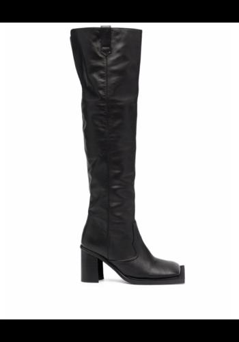 NINAMOUNAH howling knee high boots black