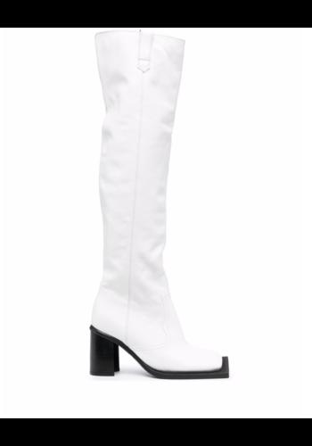 NINAMOUNAH howling knee high boots cream