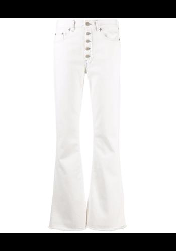 MM6 MAISON MARGIELA jeans grey stitches offwhite