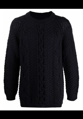 MAISON MARGIELA cable knit navy