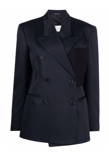 MAISON MARGIELA double breasted jacket navy