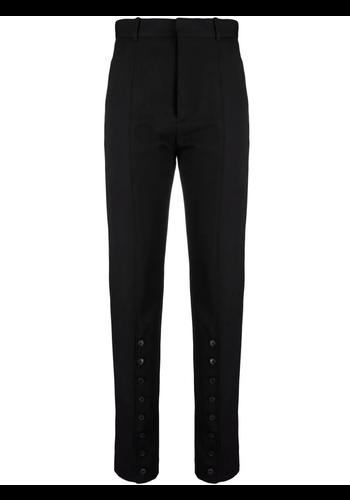 Y/PROJECT button leg trousers black